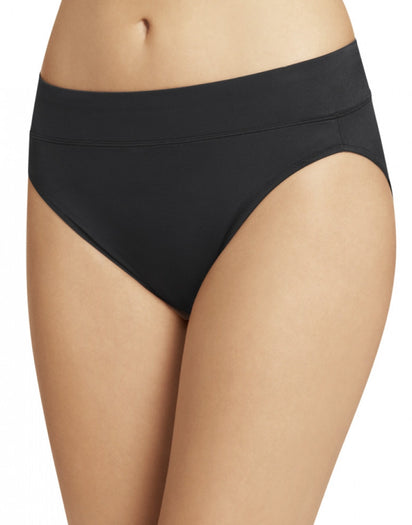 Black Front Warner's No Pinching No Problems All Day Fit High Cut Brief