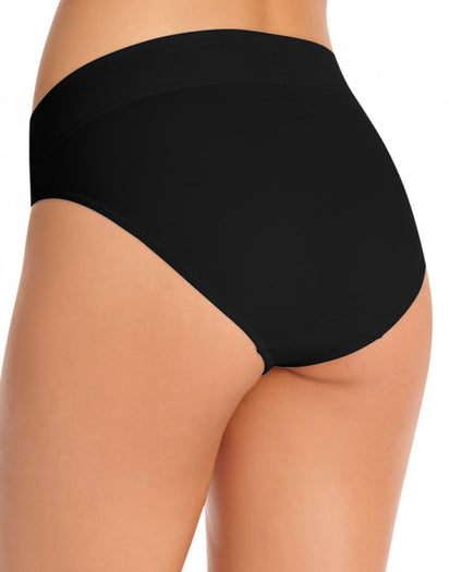 Black Back Warner's No Pinching No Problems All Day Fit High Cut Brief