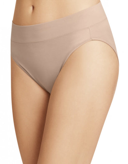 Mocha Side Warner's No Pinching No Problems All Day Fit High Cut Brief