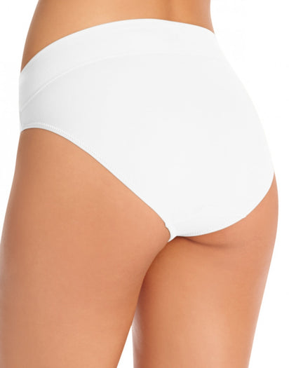 White Back Warner's No Pinching No Problems All Day Fit High Cut Brief