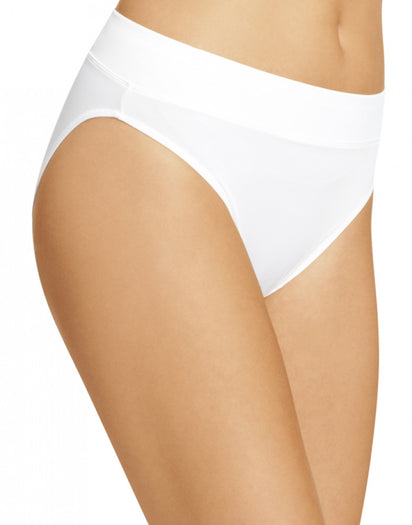White Side Warner's No Pinching No Problems All Day Fit High Cut Brief