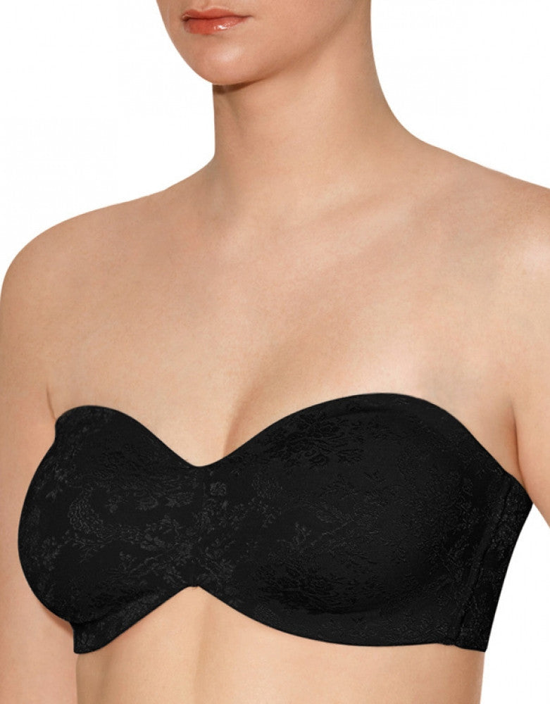 Black Front Lunaire New York Strapless Bra