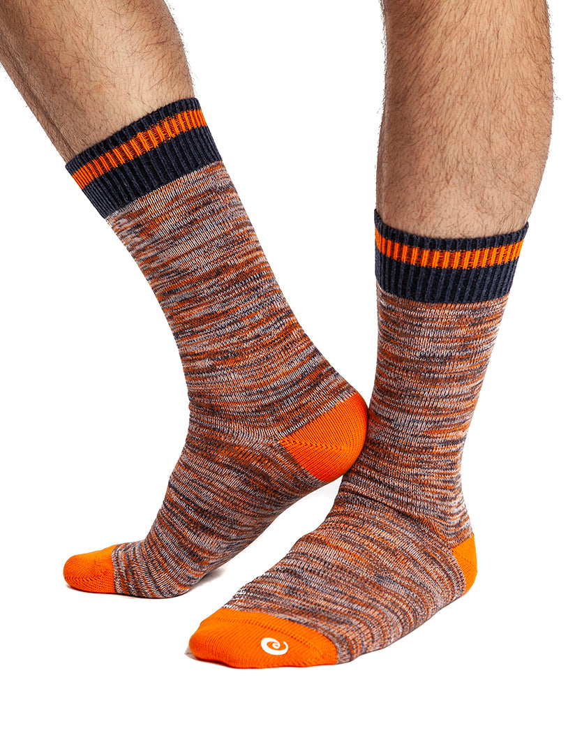 Orange/Navy Front Jack Adams Vintage Crew Sock 406-101