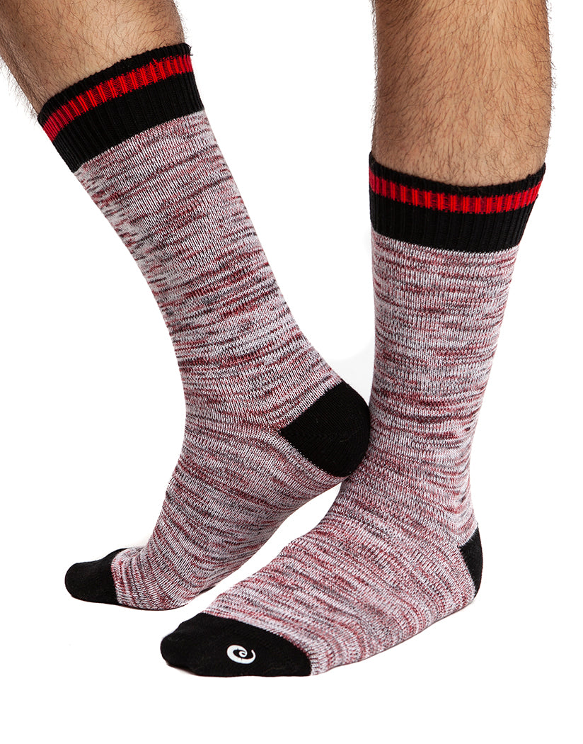 Black/Red Front Jack Adams Vintage Crew Sock 406-101