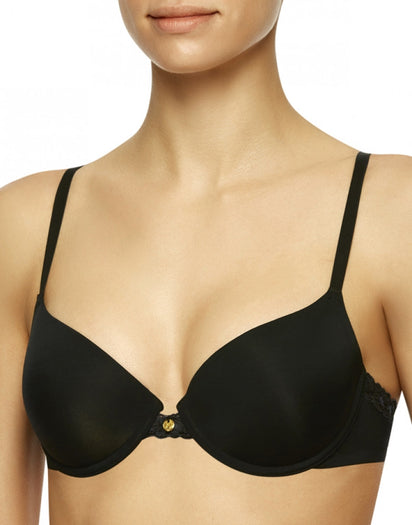 Black Front Natori Pure Luxe Push Up Bra