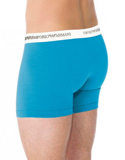 Marine/Turquoise Back Emporio Armani 2-Pack Stretch Cotton Boxer Briefs