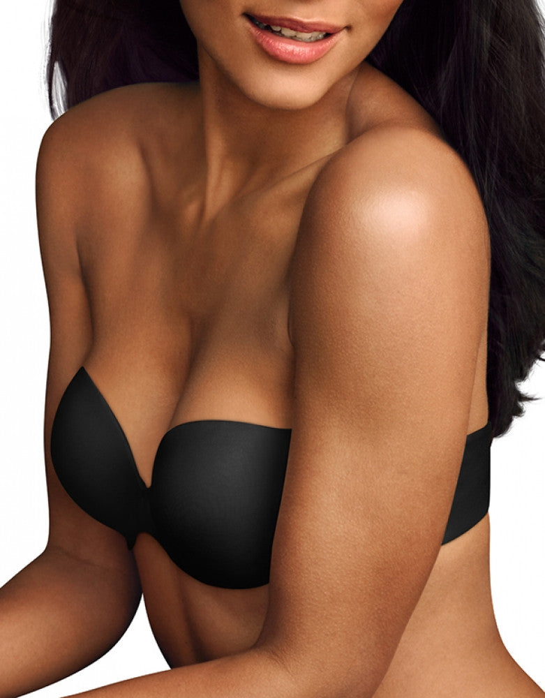 Black Front Maidenform Love the Lift Demi Strapless Multiway Bra