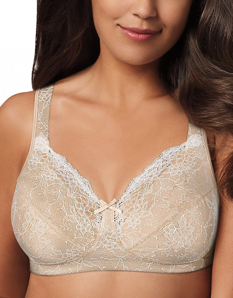 Soft Taupe Mother of Pearl Front Playtex 18 Hour Perfect Lift Wirefree Bra with Inner BoostU
