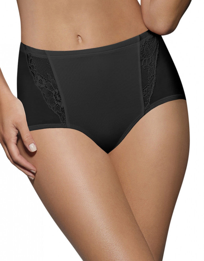Black w/Black Lace Front Bali One Smooth U Simply Smooth Brief