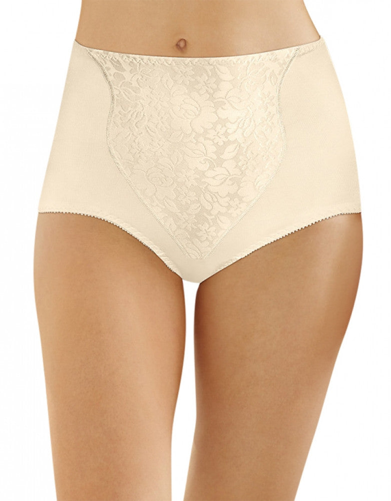 Porcelain Front Bali Light Control Lace Panel Brief 2-Pack