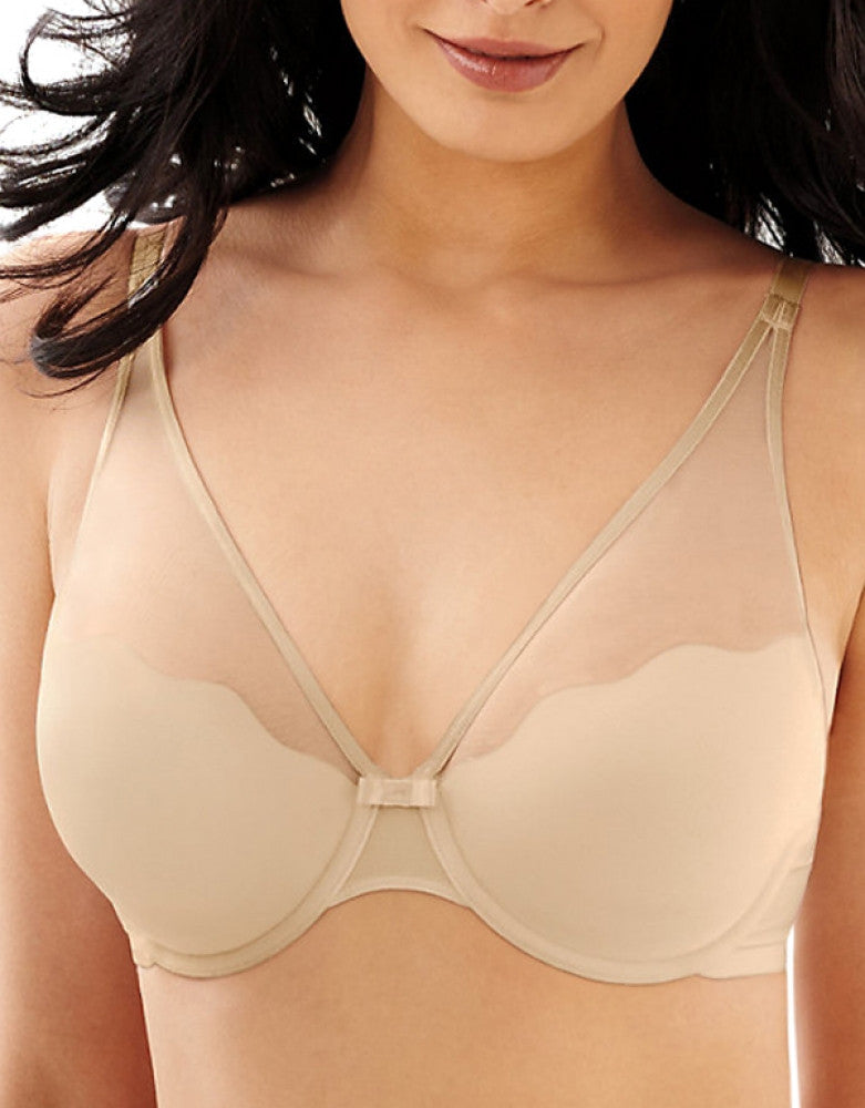 Champagne Shimmer Front Bali Bali Sheer Sleek Desire Natural Lift Bra