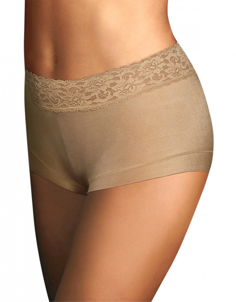 Body Beige Front Maidenform Dream Lace Boyshort
