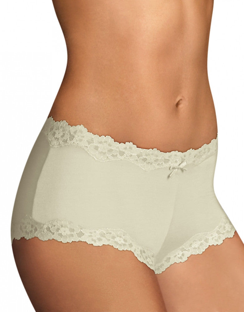 Ivory Front Maidenform Cheeky Scalloped Lace Hipster 40837