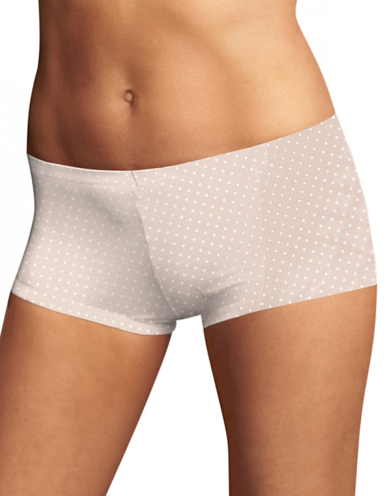Shell Ivory Dot Front Maidenform Comfort Devotion Tailored Boyshort