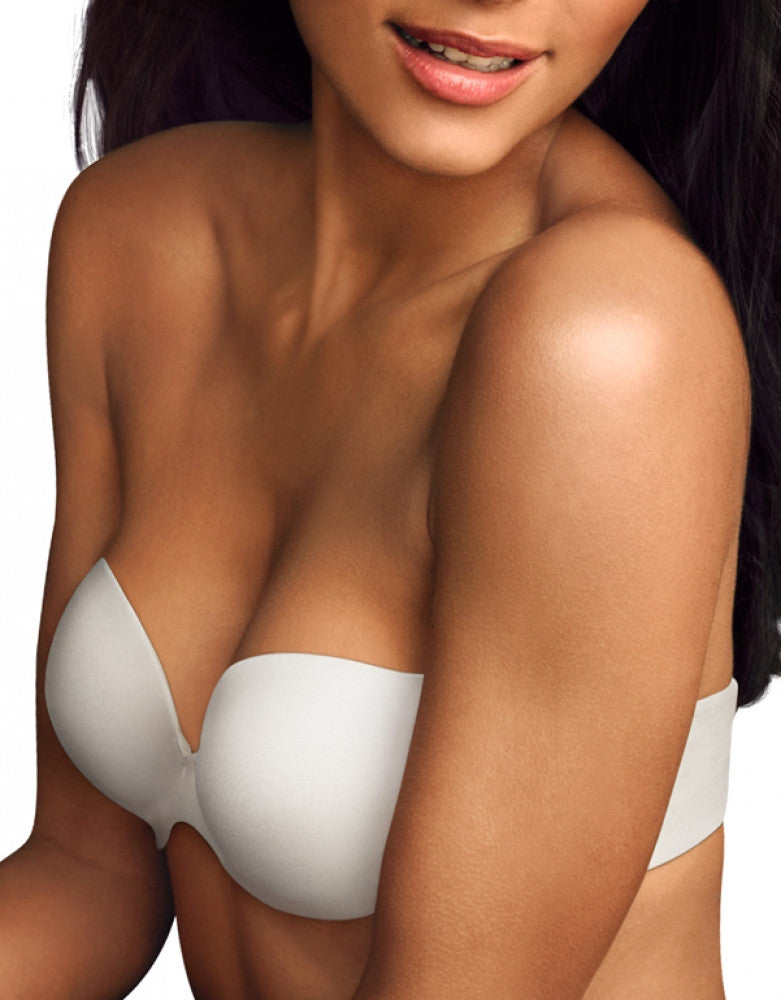 White Front Maidenform Love the Lift Demi Strapless Multiway Bra