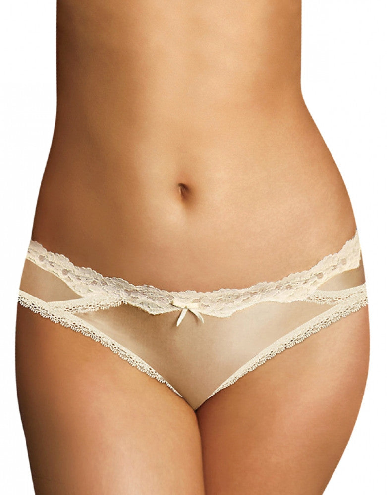 Latte Lift w/Ivory Front Maidenform Micro Cheekini with Lace DM0016