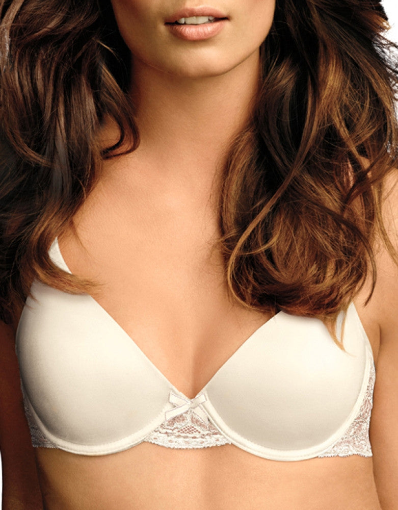 Ivory Shell Front Maidenform Comfort Devotion Embellished Demi T-Shirt Bra