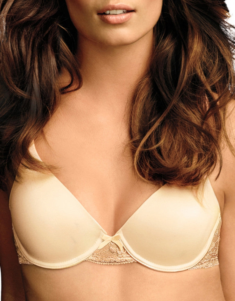 Latte Lift Front Maidenform Comfort Devotion Embellished Demi T-Shirt Bra