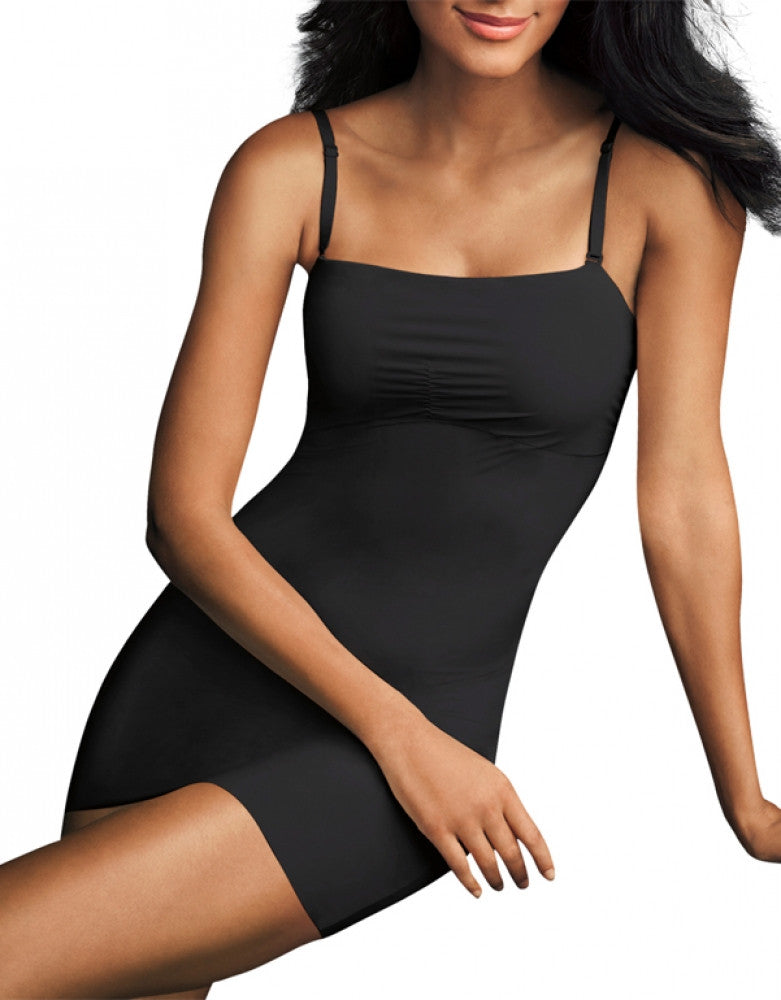 Black Front Maidenform Sleek Smoothers Full Slip 2058