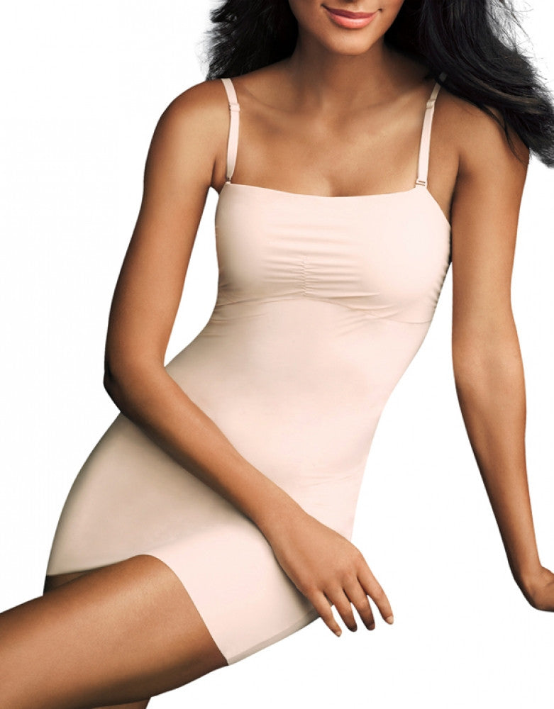 paris nude/ ivory Front Maidenform Sleek Smoothers Full Slip 2058