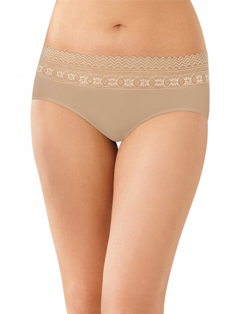 Nude Lace Front Bali Comfort Revolution Microfiber Hipster