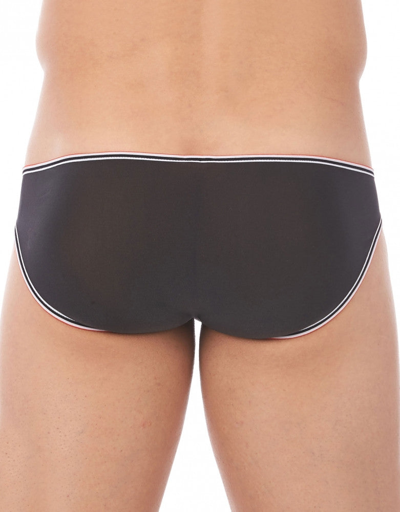 Black Back Gregg Homme Touch Stretch Sheer Brief