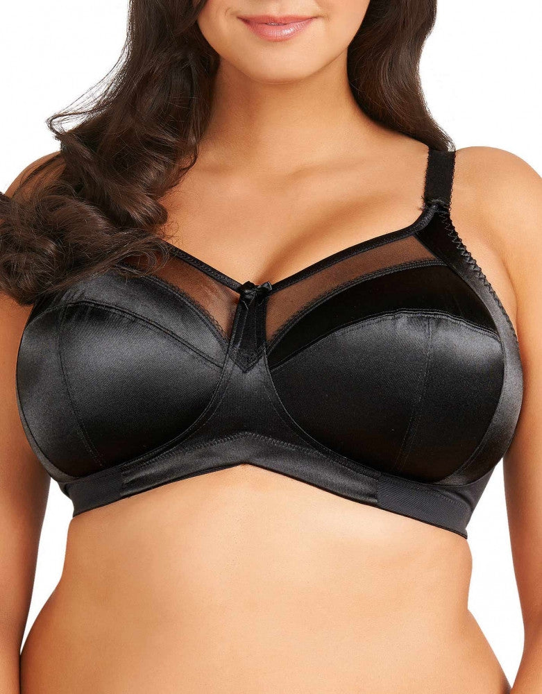 Black Front Goddess Keira Soft Cup Bra Black GD6093