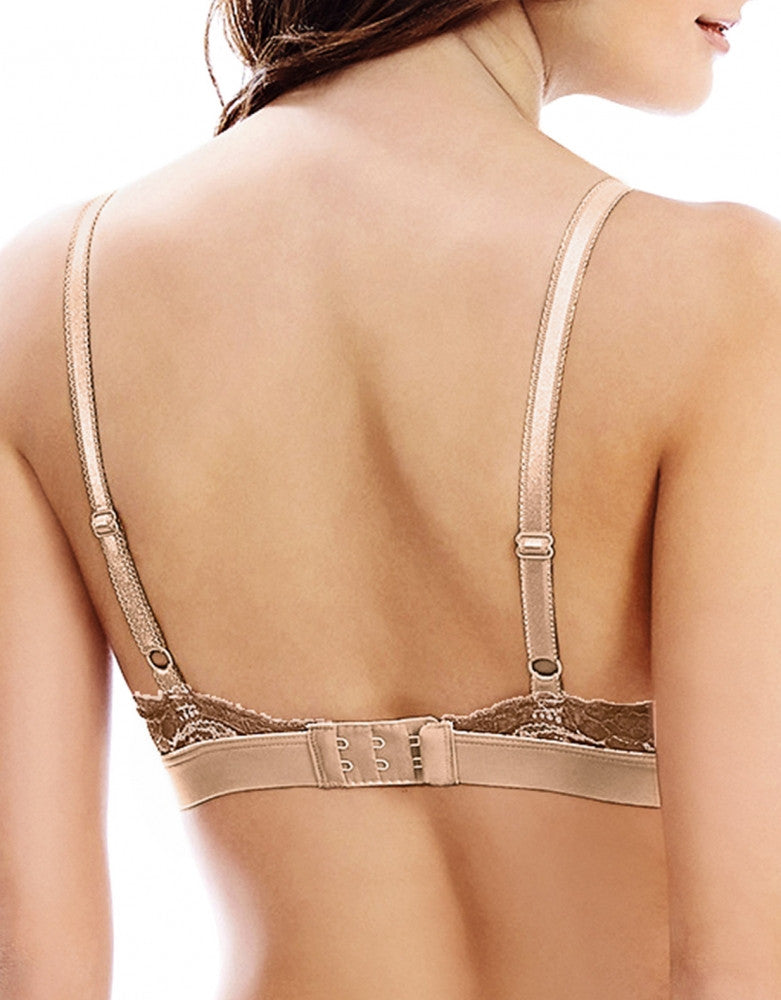 Frappe/Cappuccino Back Wacoal Lace Affair Soft Cup Bralette
