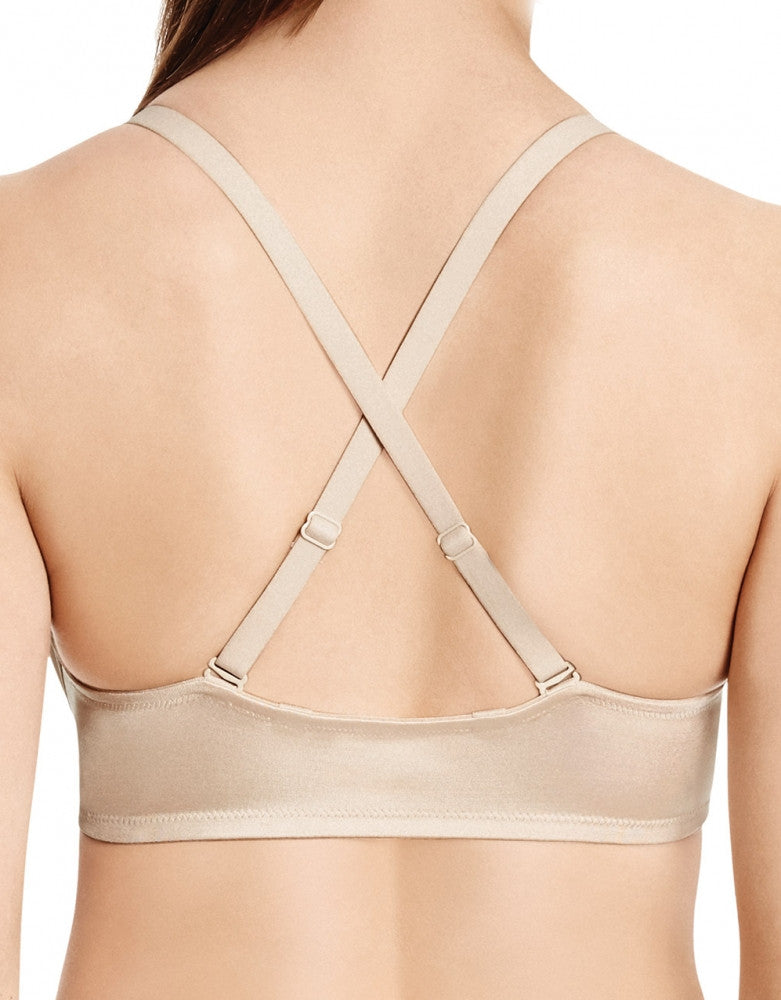 Naturally Nude Back Wacoal Basic Beauty Front-Close T-Shirt Bra