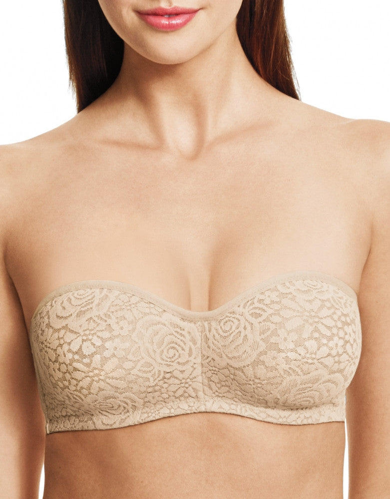 Wacoal Halo Lace Strapless Underwire Bra Naturally Nude 38DDD 719544527613