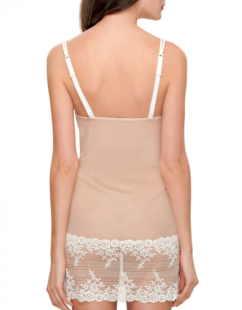 Natural Nude Back Wacoal Embrace Lace Chemise