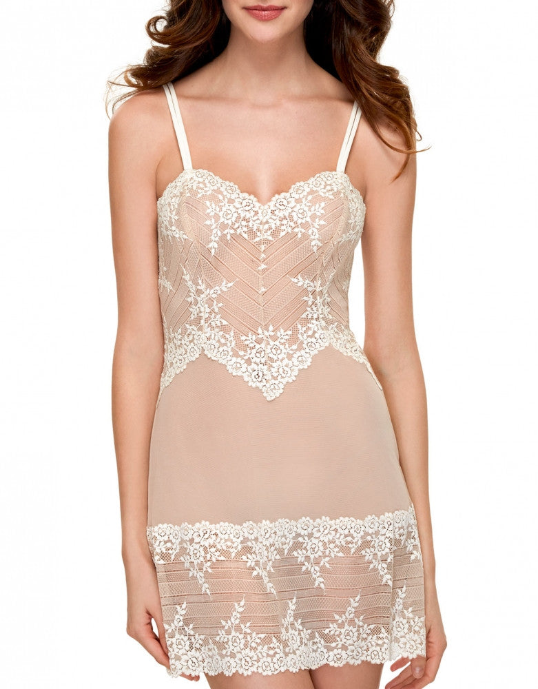 Natural Nude Front Wacoal Embrace Lace Chemise
