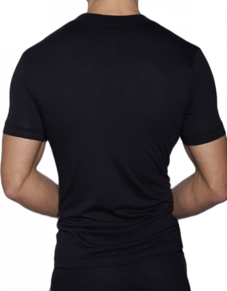 Black Back C-IN2 Zen Wide Vee T-Shirt