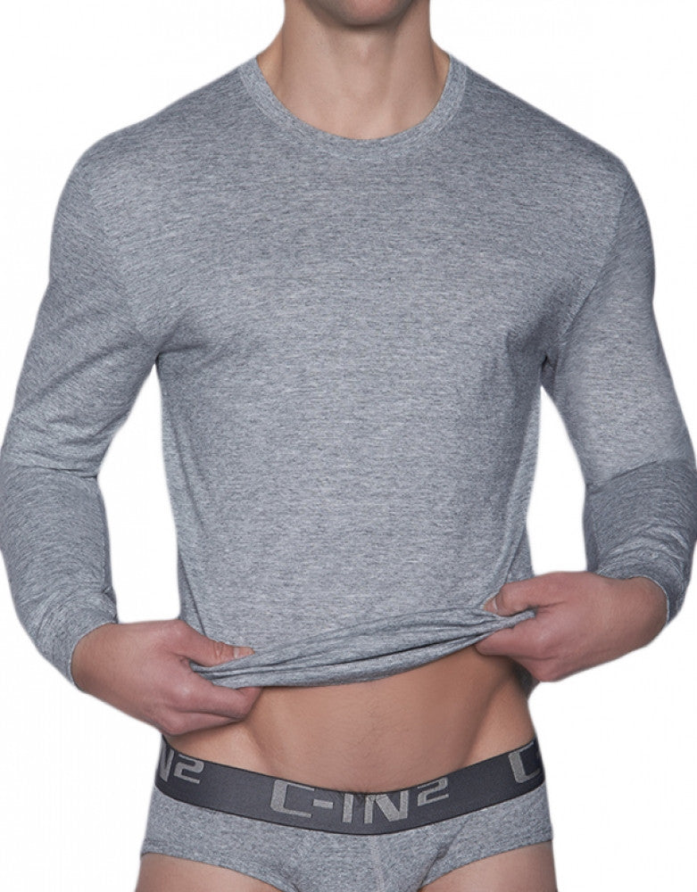Grey Heather Front C-IN2 Core Long Sleeve T-Shirt