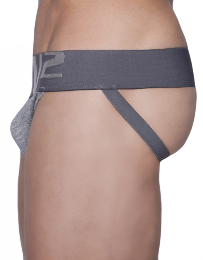 Grey Heather Side C-IN2 Core Jockstrap