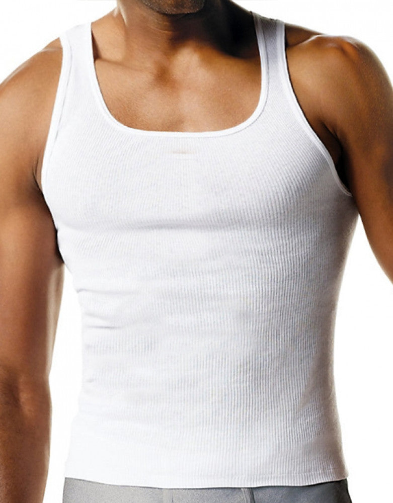 White Front Champion 3-Pack Cotton Ribbed Tank