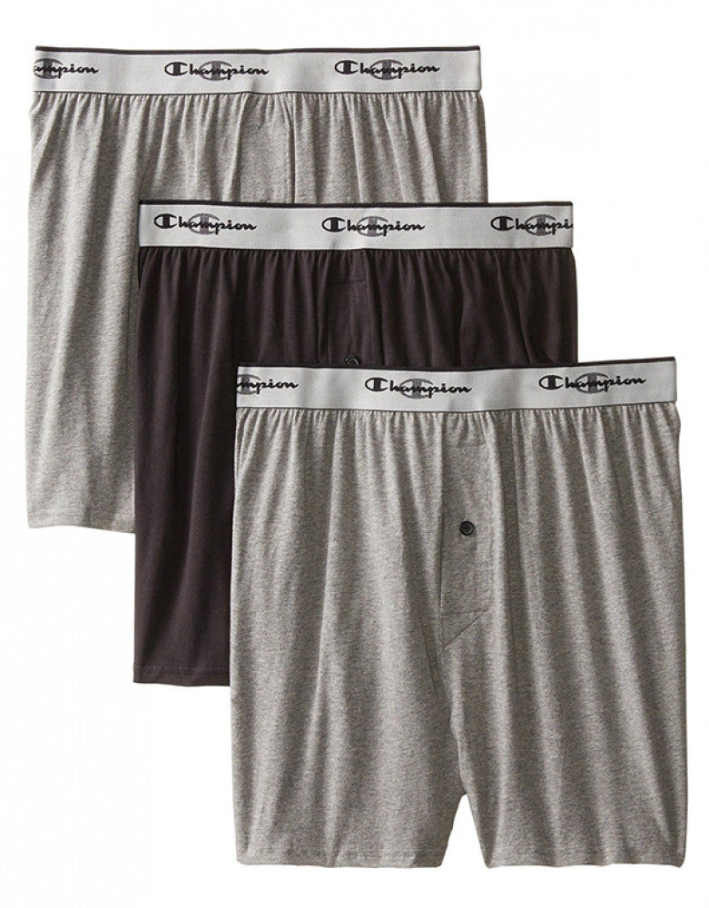 Assorted Front Champion 3-Pack Knit Boxer Shorts