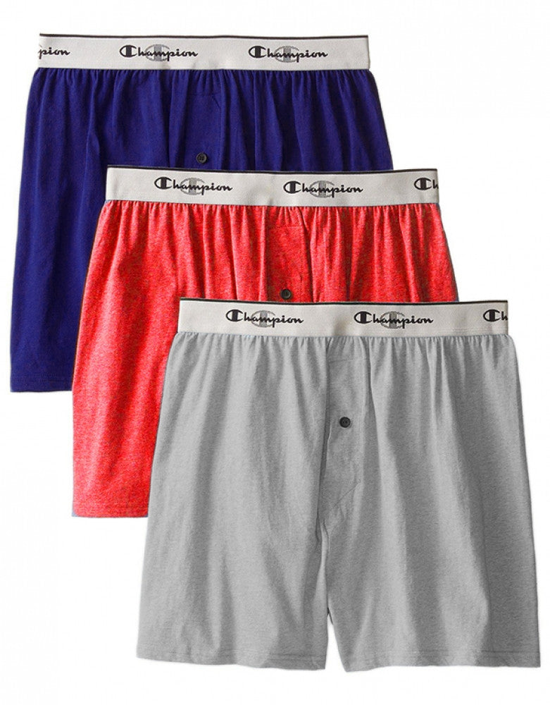 Assorted Front Champion 3 pack Knit Boxer Short