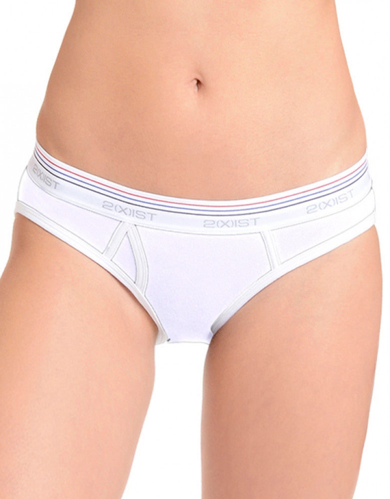 2xist Women Retro Cotton Brief White M 603679256206