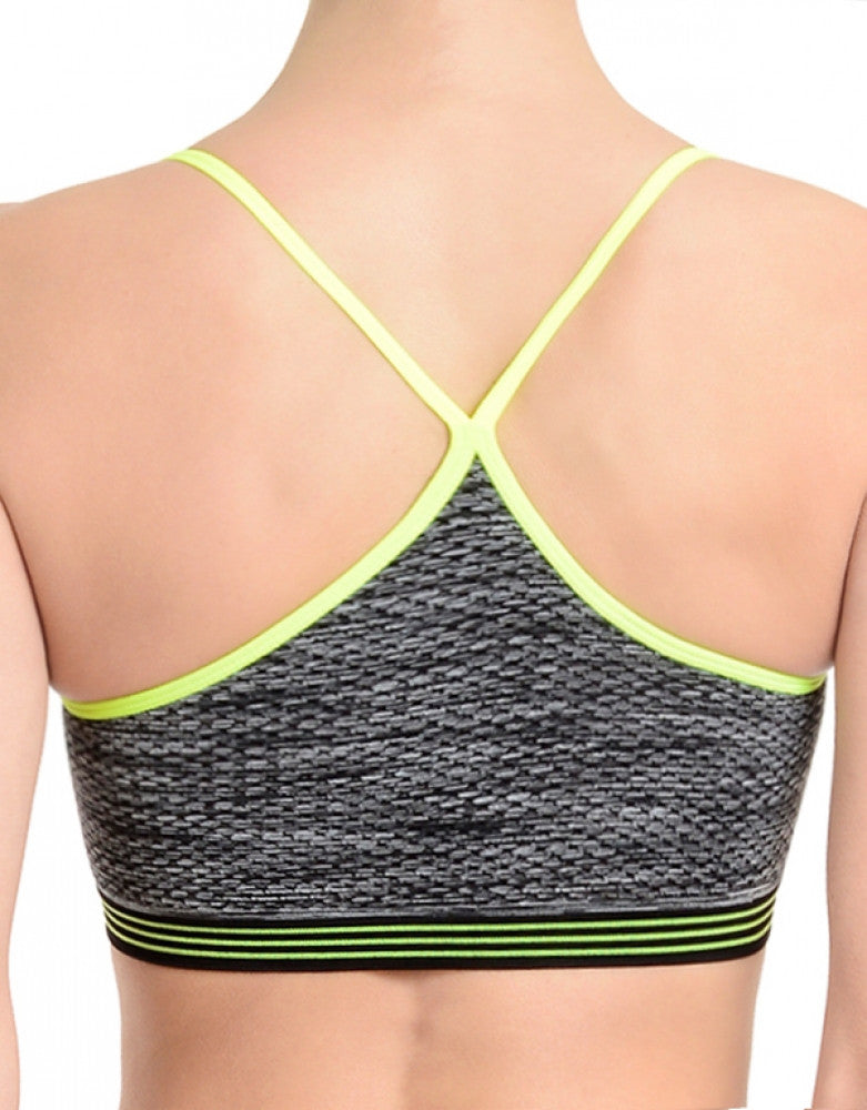 Charcoal Back 2xist Seamless Racerback Bralette