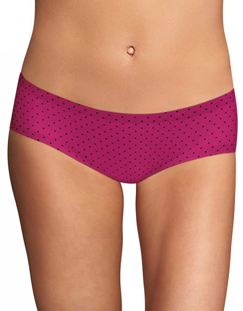 Wild Strawberry Black Dot Front Maidenform Comfort Devotion Hipster