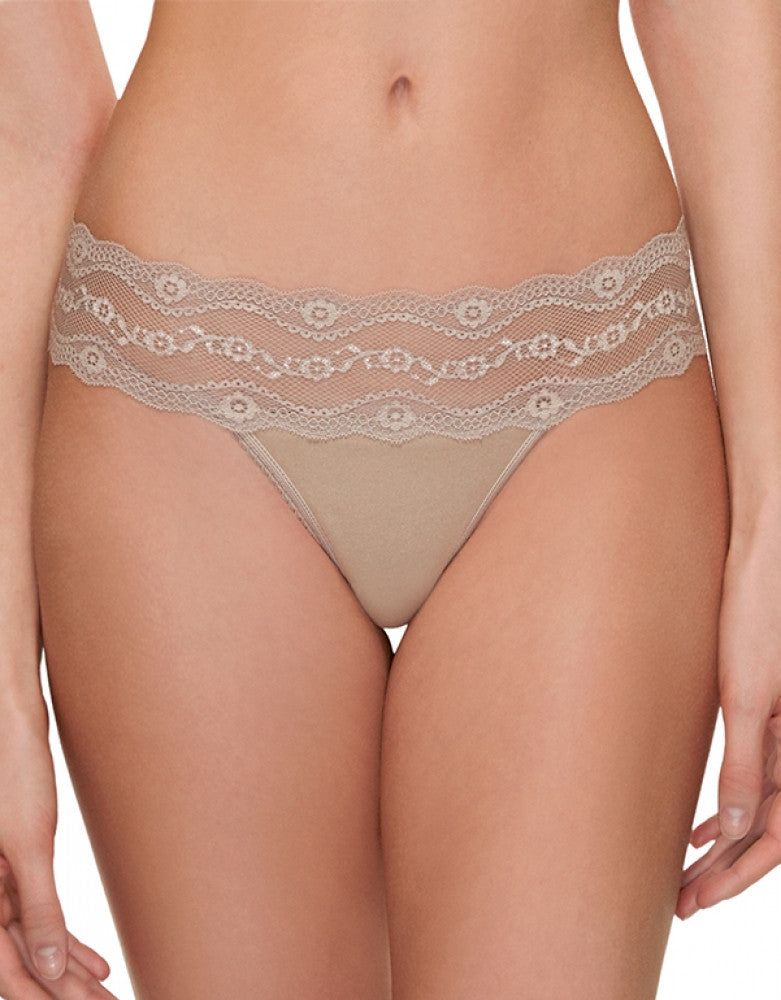 Au Natural Front b.tempt'd by Wacoal B.Adorable Lace Thong