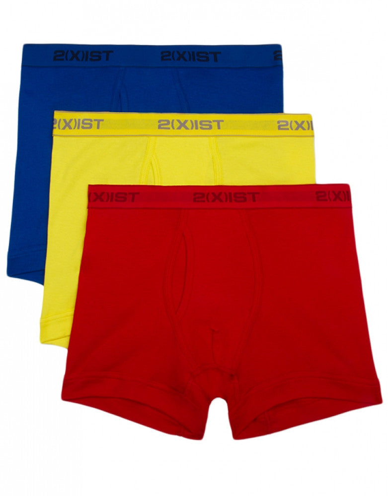 Blazing Yellow/Formula One/Lapis Front 2xist 3-Pack Essential Boxer Briefs