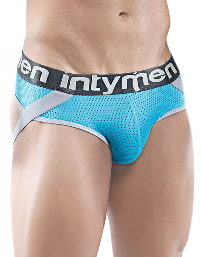 Turquoise Front Intymen Game Jock Strap Turquoise INE004