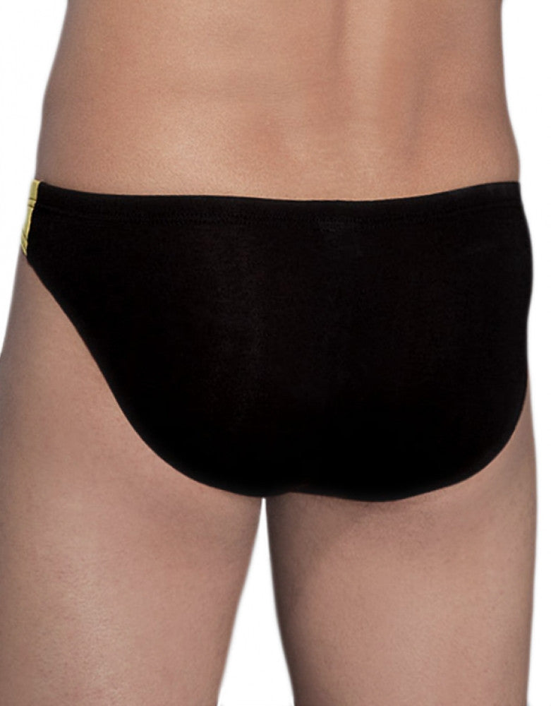 Black Back Doreanse Men's Racer Low Rise Bikini 1099