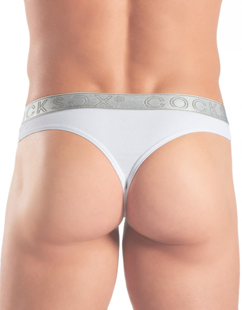 Silver Shimmer Back Cocksox Lustrous Elements Sports Thong