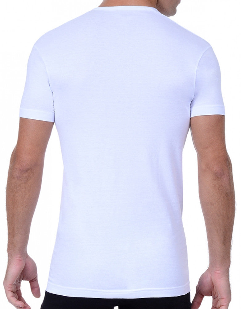White Back 2xist 3-Pack Essential Slim Fit V-Neck T-Shirt