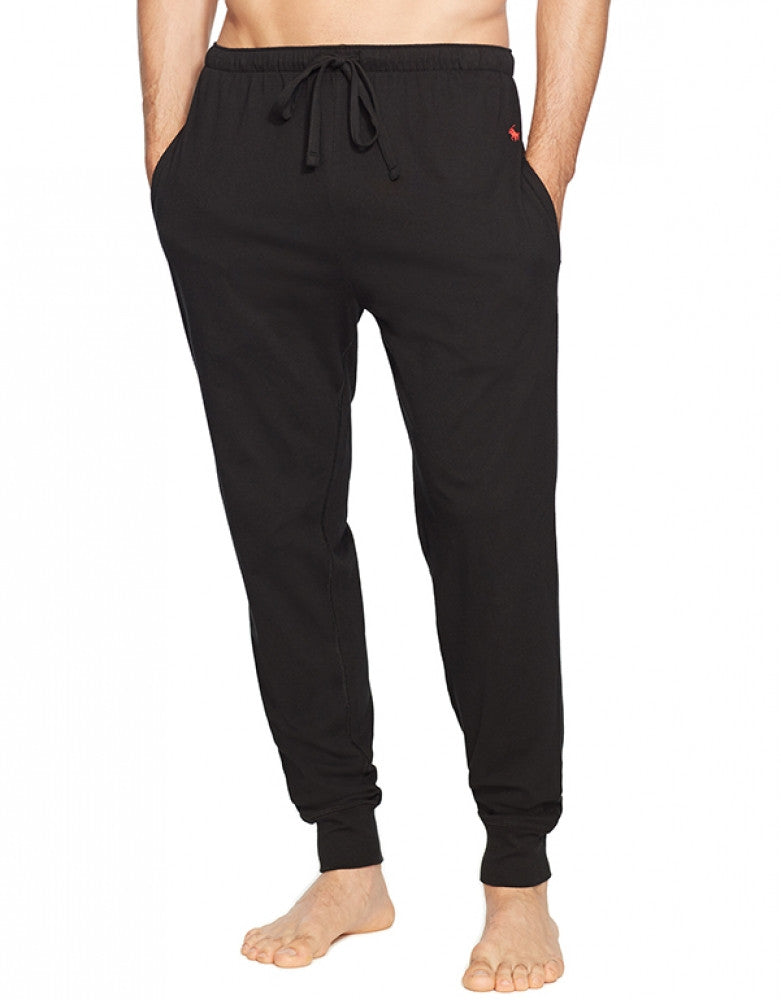 Polo Black Front Polo Ralph Lauren Jogger Cuff Sleep Knit Pant
