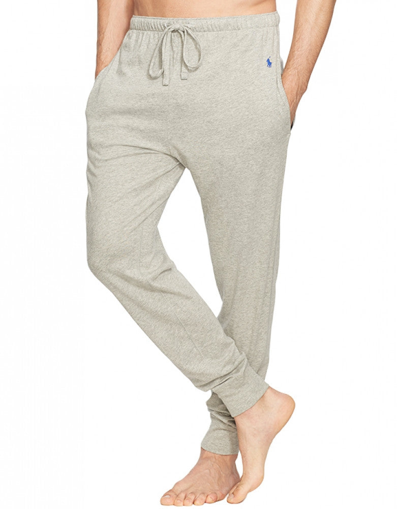 Andover Grey Front Polo Ralph Lauren Jogger Cuff Sleep Knit Pant