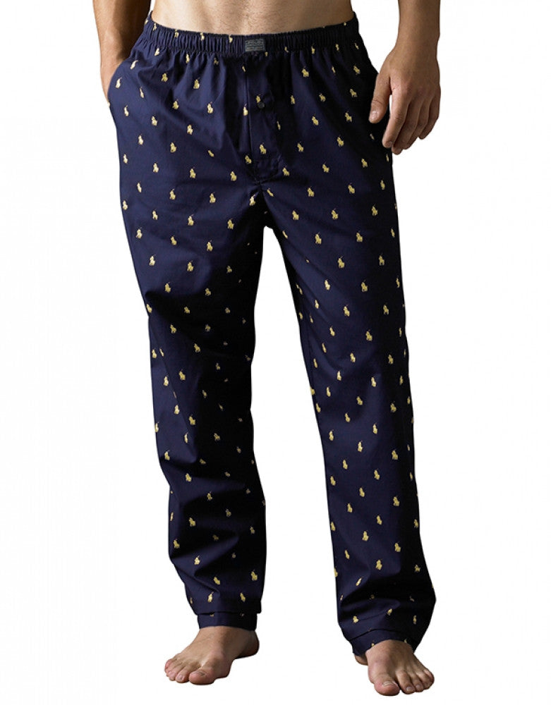 Navy Front Polo Ralph Lauren Polo Player Sleepwear Pant